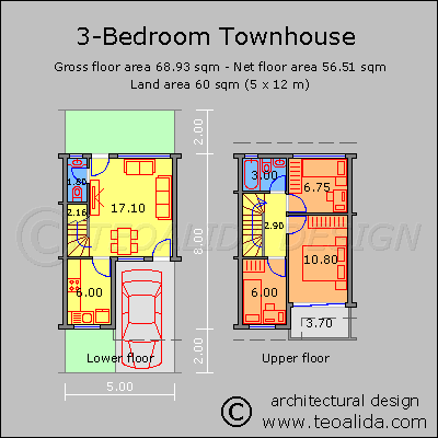Townhouse for Philippines, 3-bedroom