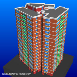 Trapeze tower with 6 units per floor