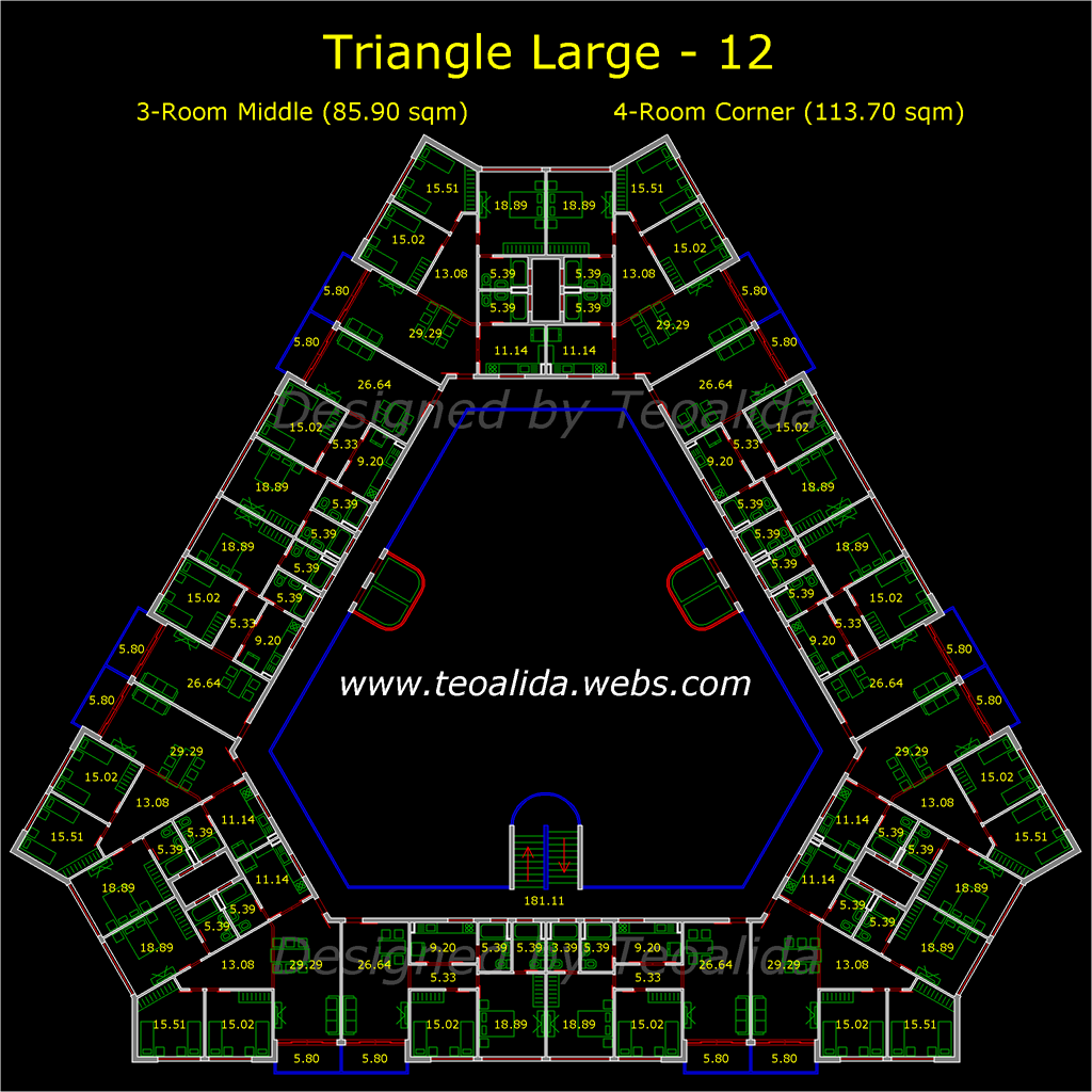 Triangle block, large version