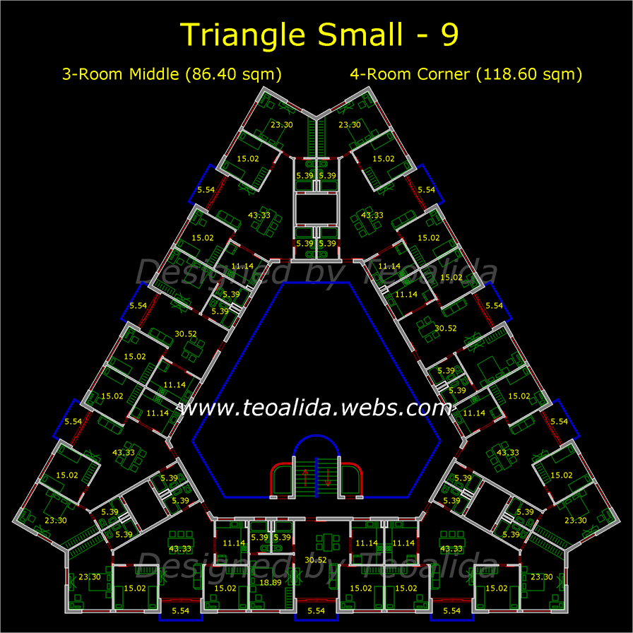 Triangle block, small version