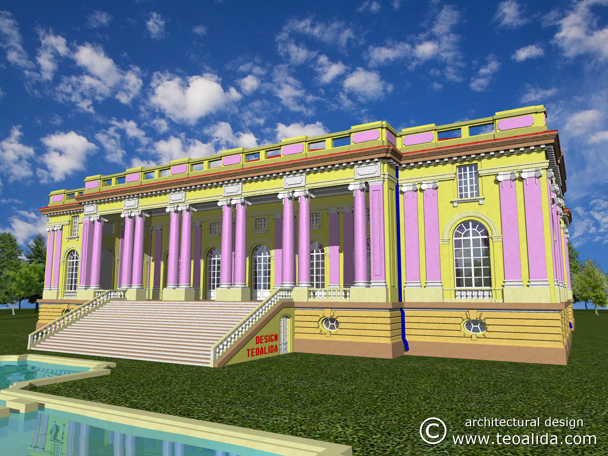 The little trianon palace 3d design services teoalida Palace design