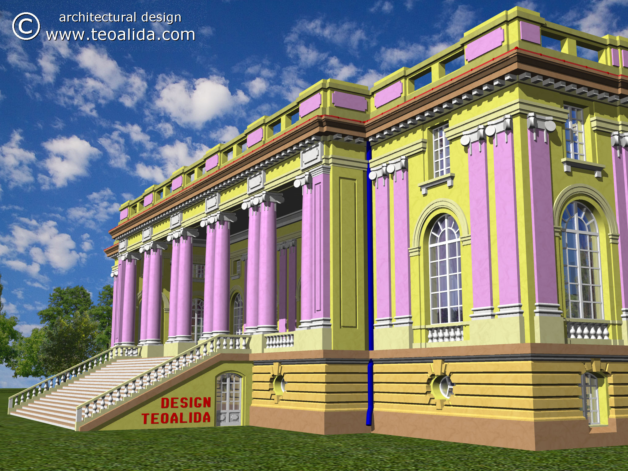 The Quot Little Trianon Quot Palace 3d Design Services Teoalida