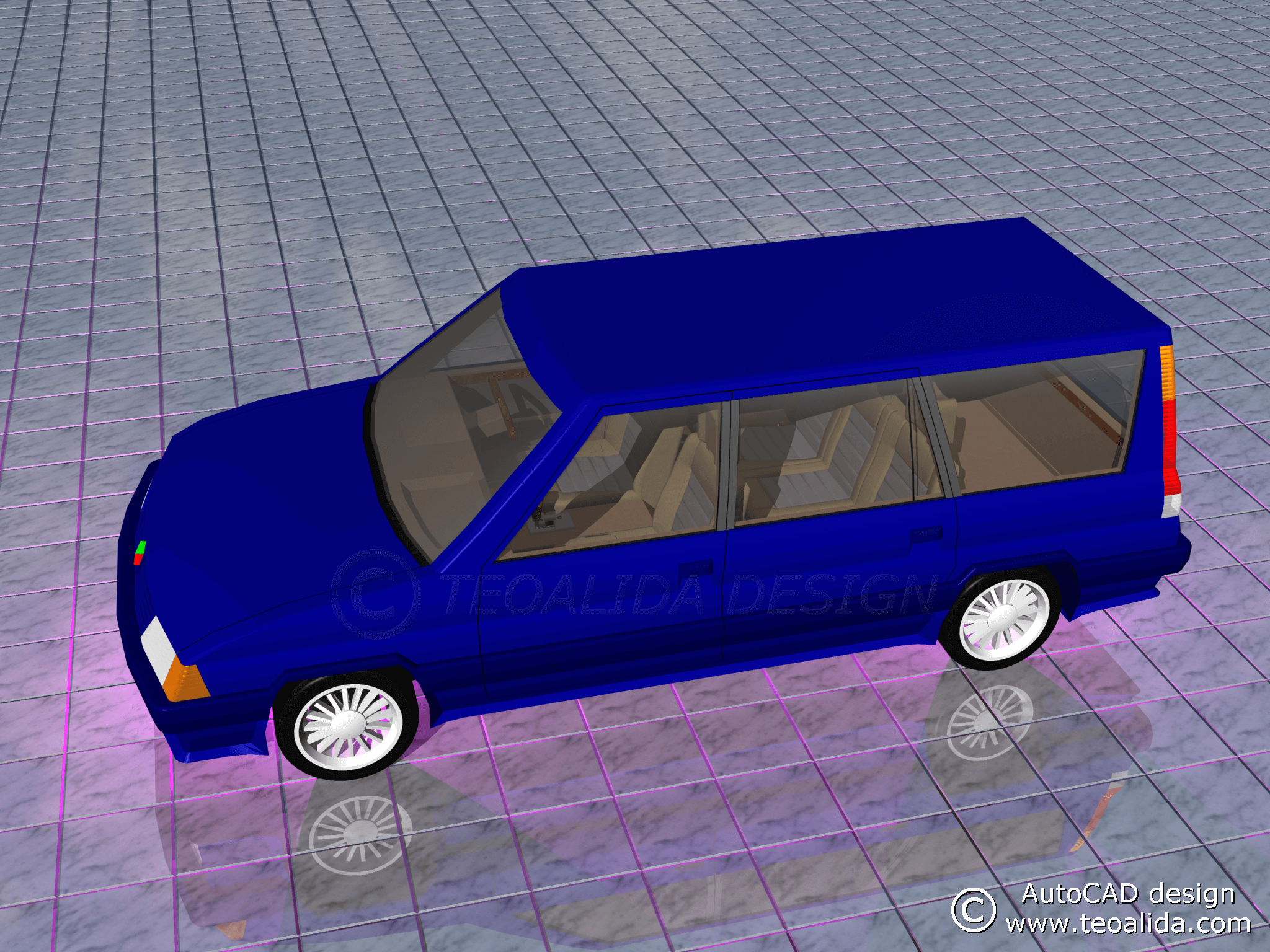 AutoCAD 3D Car Design | Teoalida Website