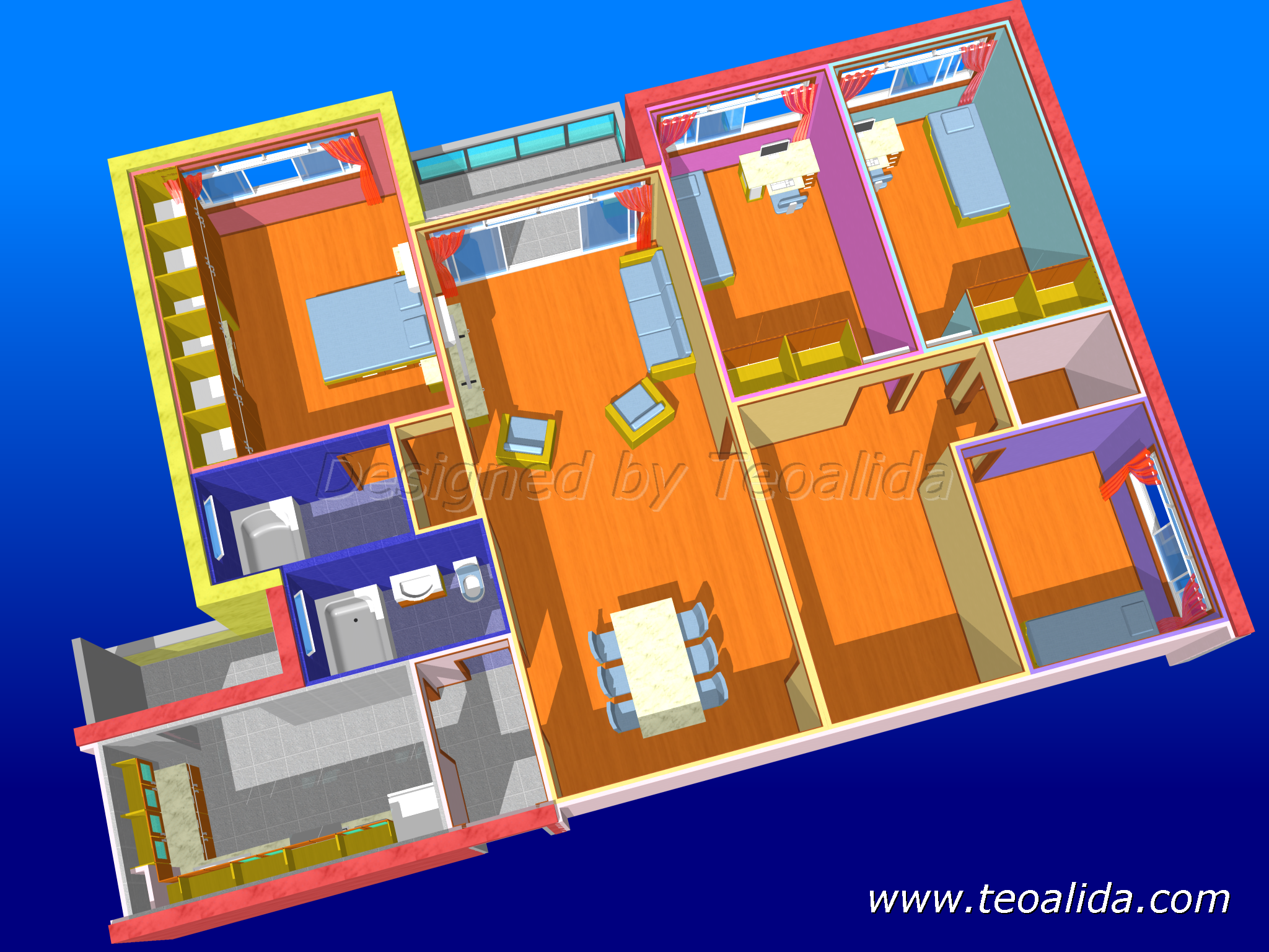 interior design & furniture models | teoalida website