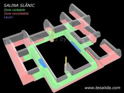 Salina Slanic, planul minei Unirea in 3D