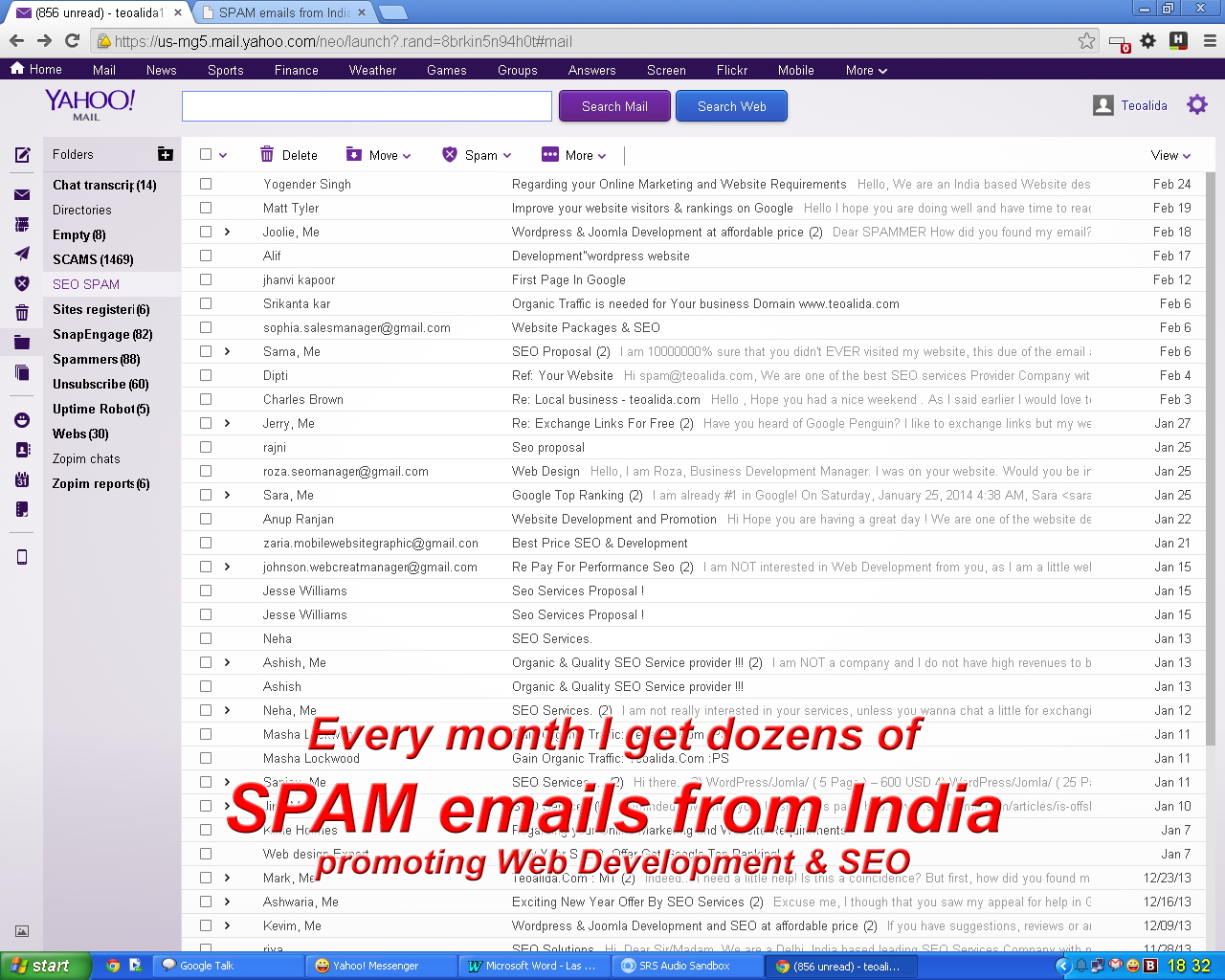 How to stop SPAM from India: Web Design & SEO services