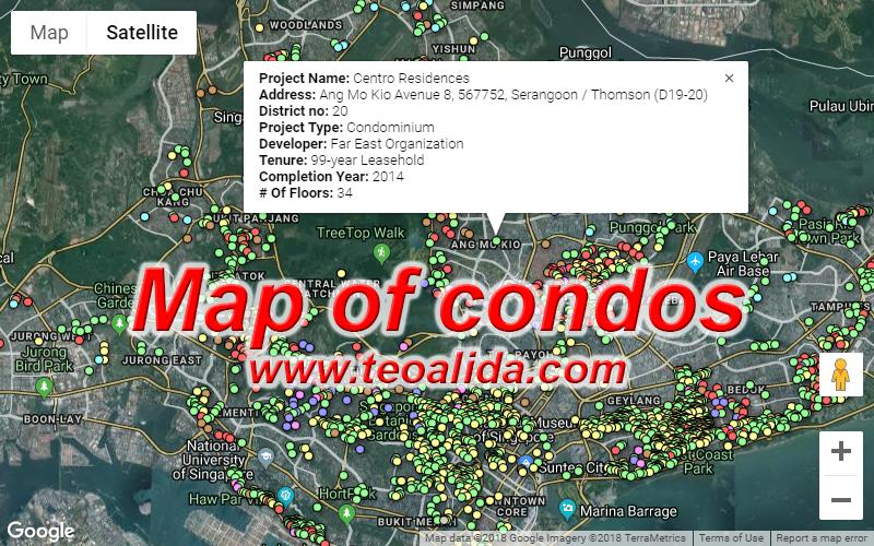 Map of condos
