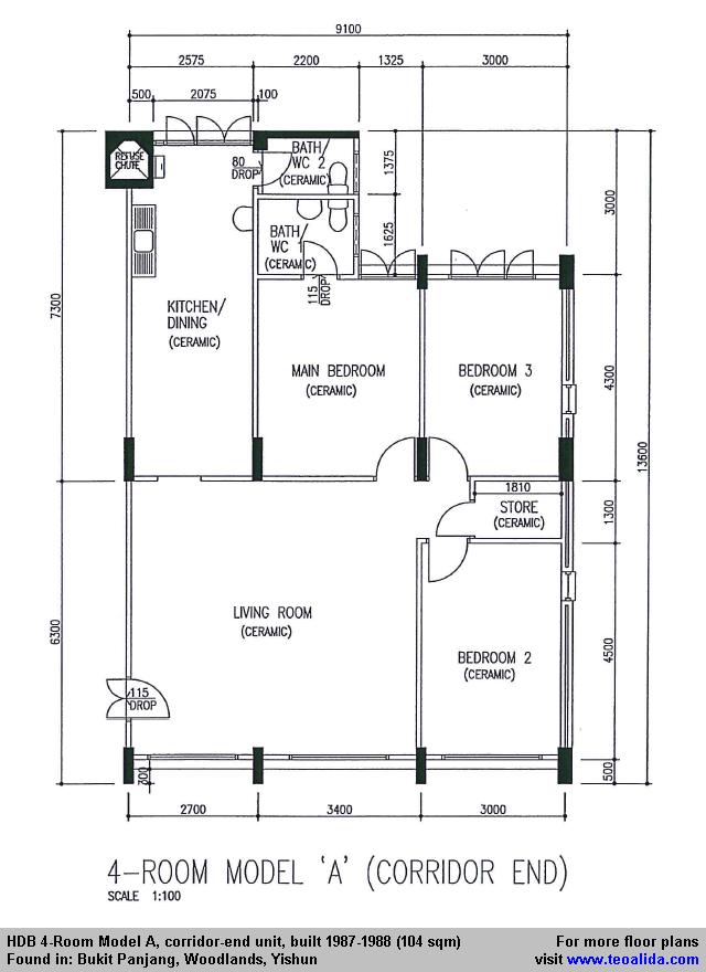 Hdb Floor Plans Bto Flats Ec House Cad Design Services Pictures
