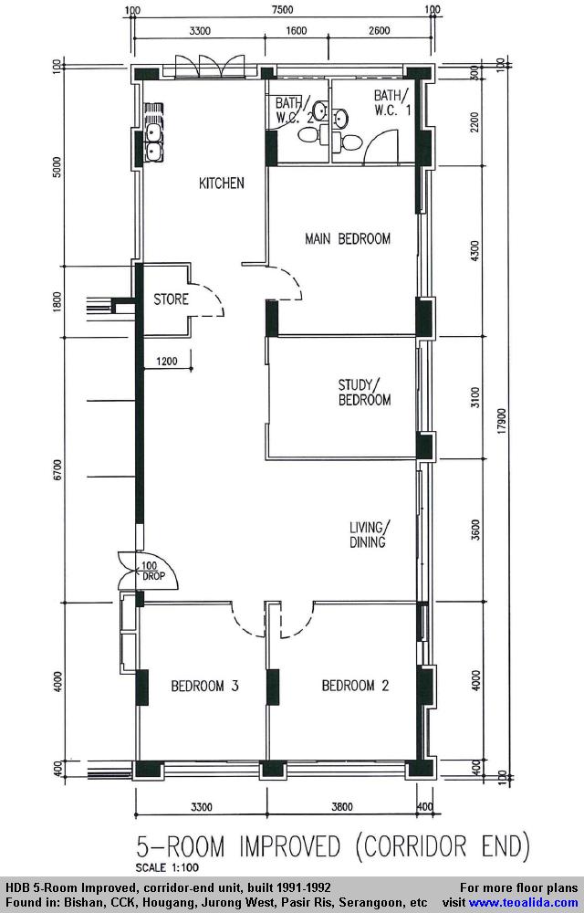 Studio apartment hdb floor plan unique studio apartment for Apartment design guide part 2