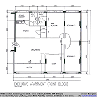 Executive Apartment floor plan (146 sqm)