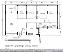 Executive Apartment floor plan (143 sqm)