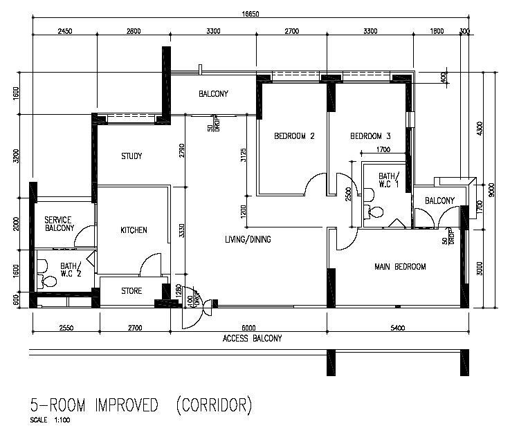 5-Room Improved from Bedok blk 140 (121 sqm)