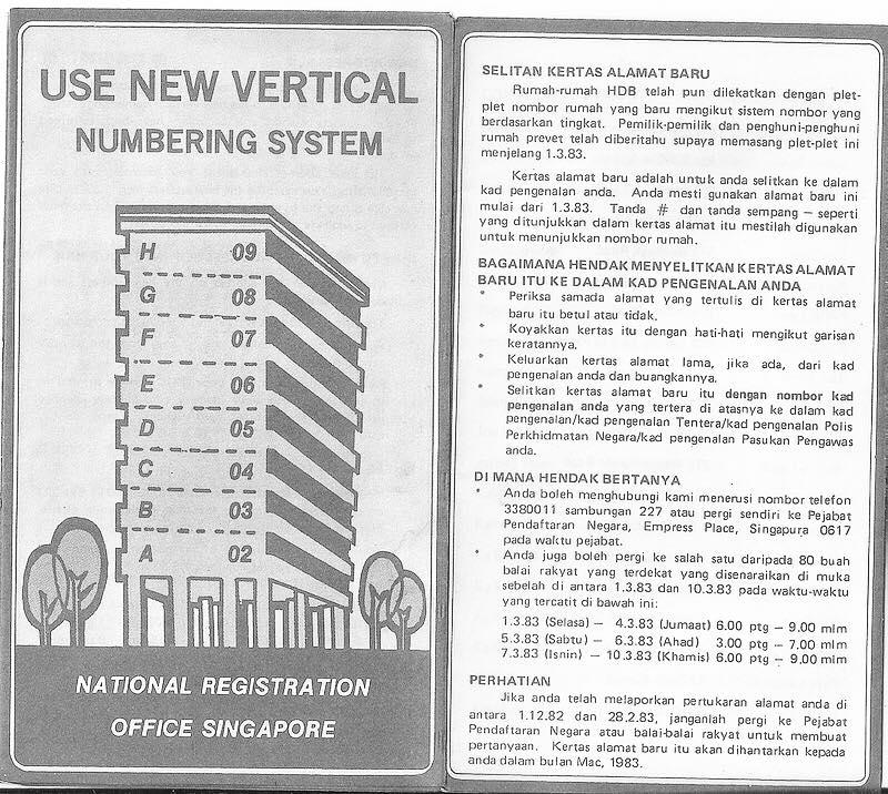 HDB unit numbering