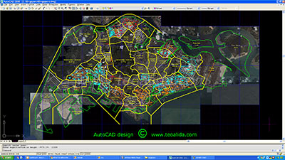 Singapore AutoCAD map