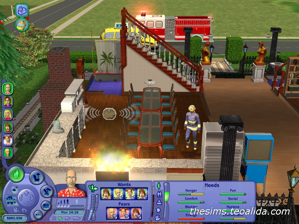 Fun with fire   The Sims fan page