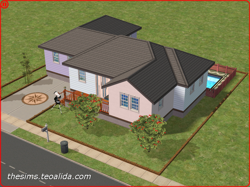 Enjoyable American Style Single Story Home The Sims Fan Page Download Free Architecture Designs Viewormadebymaigaardcom
