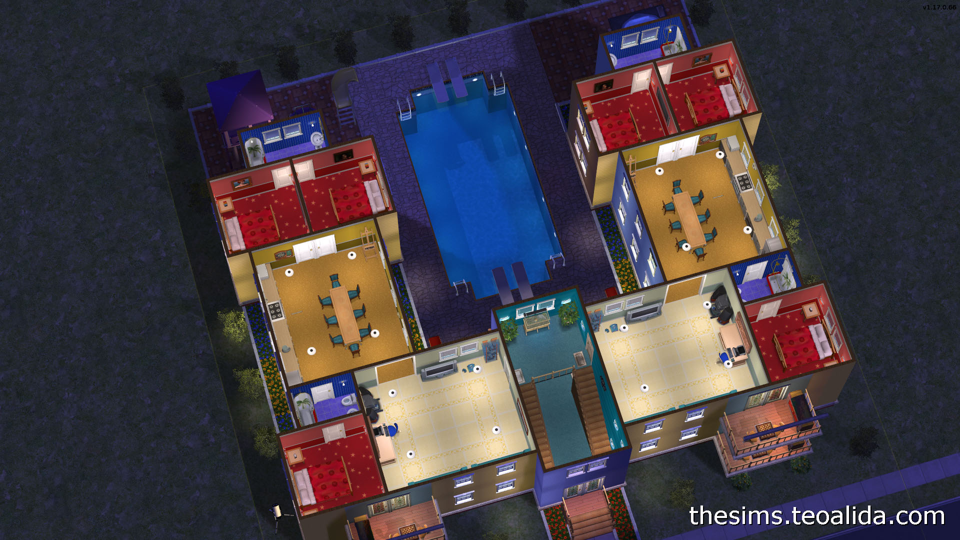 U Shaped Apartment Block For 4 Families The Sims Fan Page,Home Design Blueprints 1000 Sq Ft