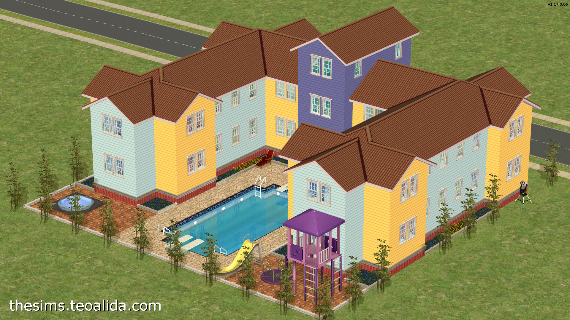 The Sims 2, 3, 4 world downloads and house floor plans - Part 3