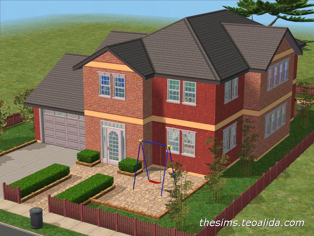Asymmetrical House Iii The Sims Fan Page