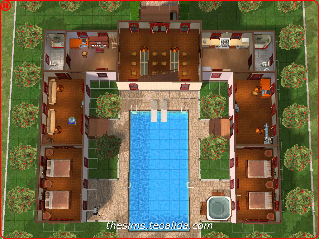 Helluva hacienda maxis inspired the sims fan page for Sims 4 floor plans