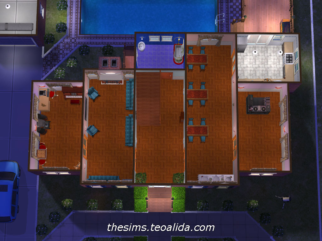 Home alone movie house the sims 2 version the sims for Home alone house floor plan