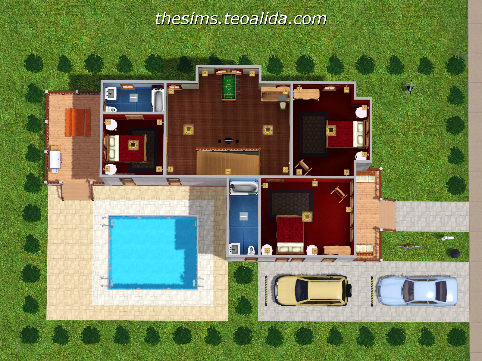 L Shaped House. The Sims house downloads  home ideas and floor plans   Part 5