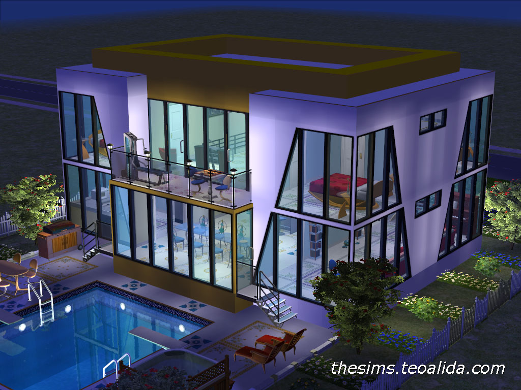 The sims house downloads home ideas and floor plans part 3 for Modern house 7 part 2