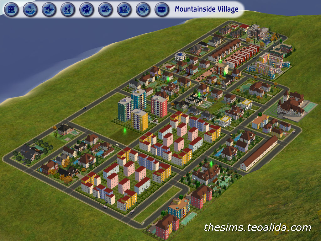 I Compiled This Neighborhood Using All The The Sims Houses Built By Me Plus Few Downloaded Houses It Is Messy At This Moment Except The Apartment
