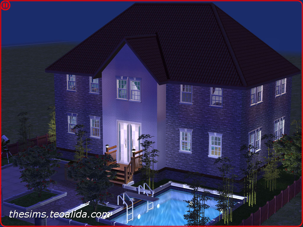 Symmetrical Brick Style House On 2x2 Lot The Sims Fan Page