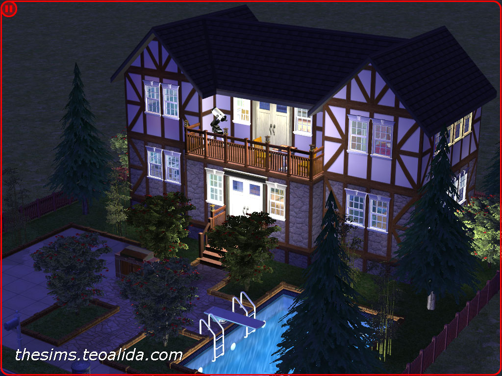 Symmetrical Rustic Style House On 2x2 Lot The Sims Fan Page