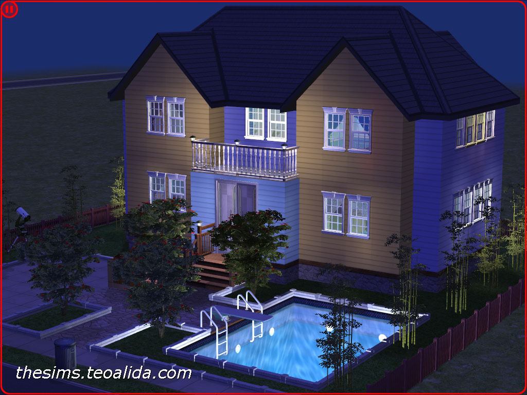 Part Of The Series 2x2 Symmetrical Houses This One In American Style With Siding Wall Covers Designed For A Family 4 6 Sims You Can Put Two Extra
