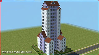 The Sims 2 skyscraper