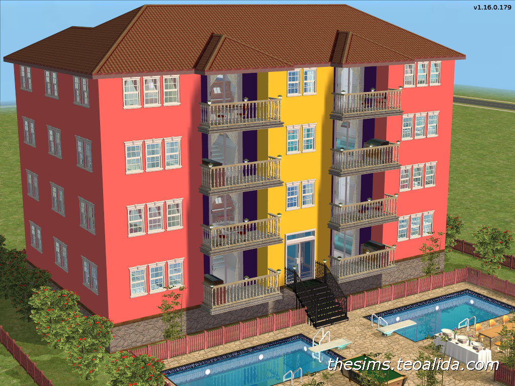 Duplex Apartments With 3 Bedrooms Designed For 6 8 Sims You Can Add One Extra Single Bed In Each Bedroom