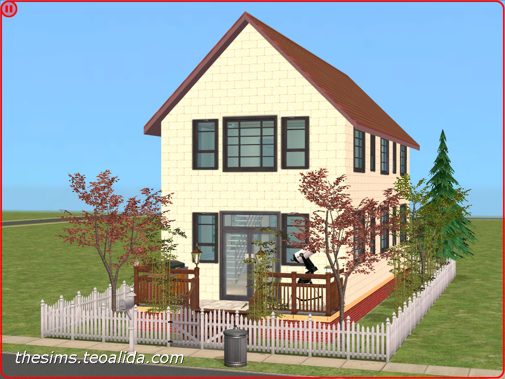 Cool Tiny House On 1X2 Lot The Sims Fan Page Download Free Architecture Designs Viewormadebymaigaardcom