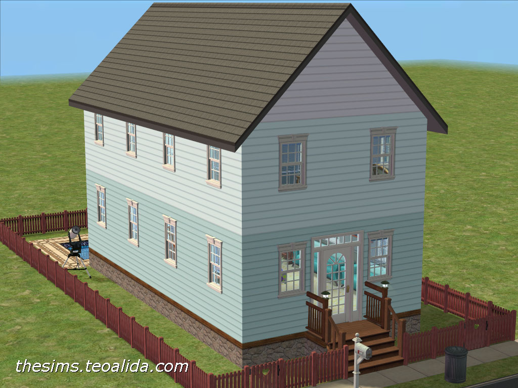 House On A Tiny 1 2 Lot Iv The Sims Fan Page