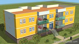 Realistic Apartment Block