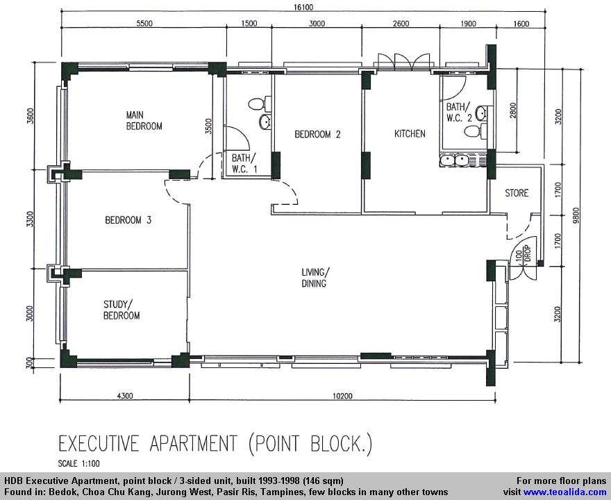 HDB Executive Apartment floor plan