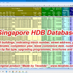 Database of HDB blocks in Excel format