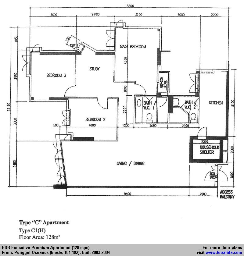 HDB floor plan