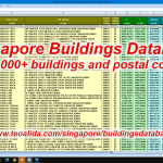 Database of all buildings in Singapore with postal codes