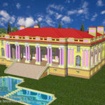 Palace Trianon 3D design in AutoCAD