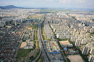 Bucheon aerial view