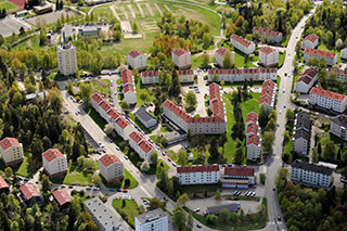 Olso, aerial view
