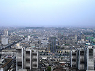 Pyongyang East viewed from Juche Tower