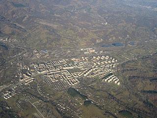 Vulcan, aerial view