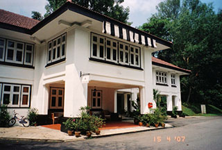 Black & white bungalow