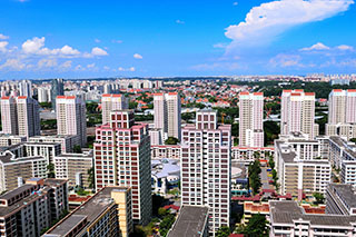 Bishan New Town neighborhood 1xx (built 1985-1988) viewed from Bishan Loft